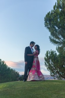 Beautifully captured romantic shot at Silver Creek Valley Country Club
