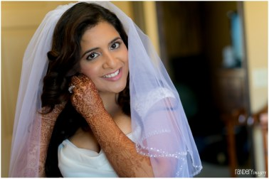 Lovely shot of Sanika getting ready to walk down the aisle.