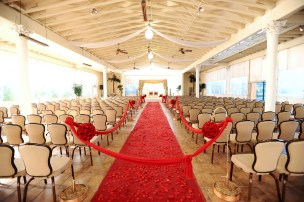Another view of the Pavilion - notice the chairs - those are the standard chairs that come with your wedding package.