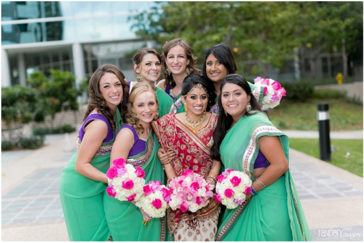 I wanted to wear a sari for the ceremony because I'm more likely to wear a sari again vs. lehenga.