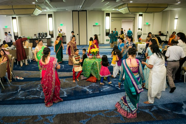 Newport-Beach-Marriott-Indian-Wedding-Photography-garba-sangeet-Hindu