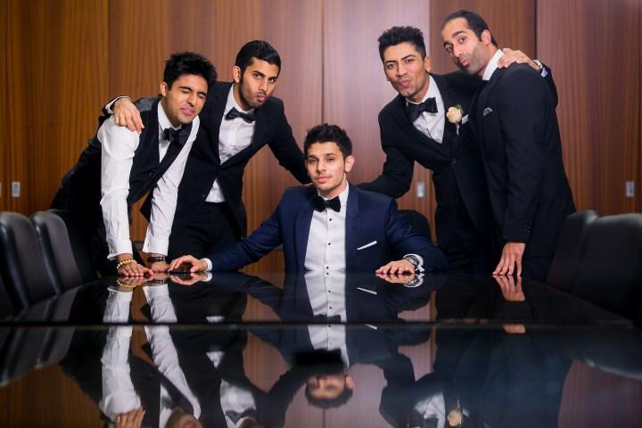 Azhar and groomsmen