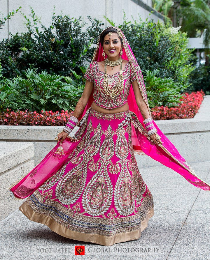 Indian-wedding-pink-lehenga-sherwani-sera-Hotel-Irvine-dupatta-Global-Photography-Kunal-Shveta