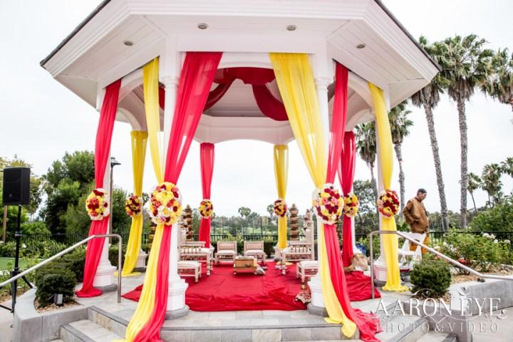 The Rose Garden ceremony venue at the Marriott Newport Beach.