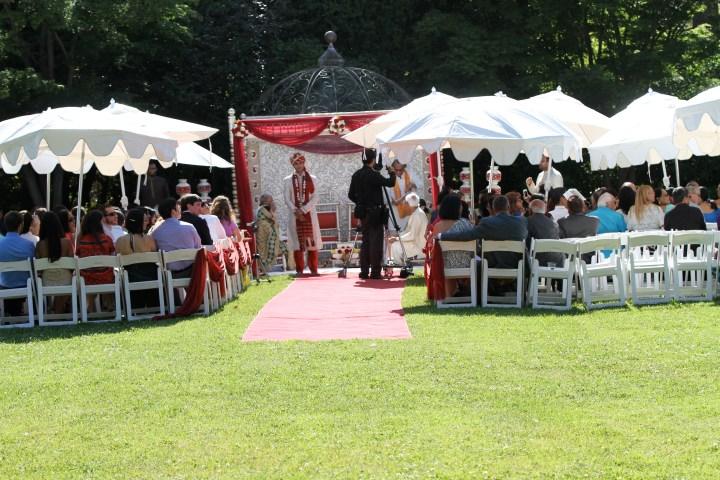Smita-Aravind-Indian-wedding-mandap-Hindu-outdoor-wedding-ceremony-sherwani-sera-baraat