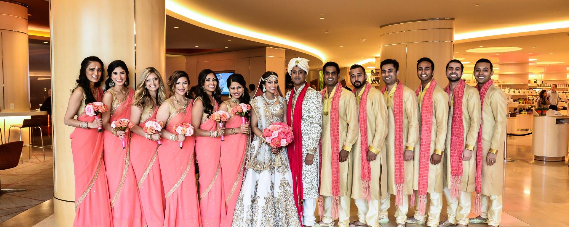 Bridal party photo at an Indian wedding