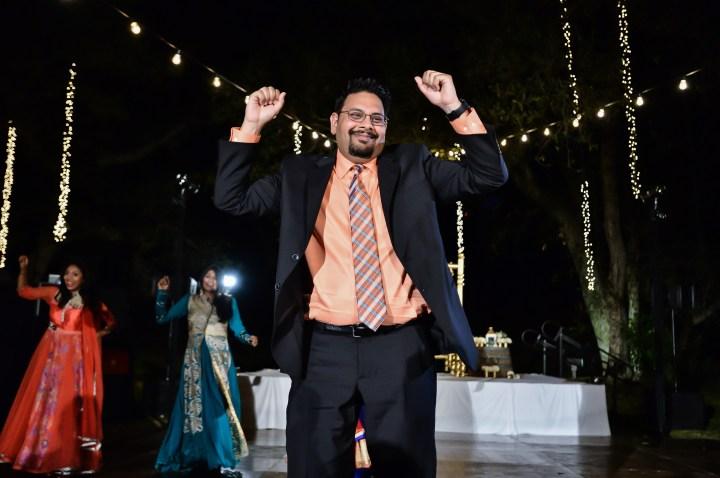 Rakhee-Amrish-gift-exchange-Indian-wedding-venue-photography-Greycard-Hindu-outdoor-dresses-bride-groom-vineyard-South-Asian-wedding-groom-brother