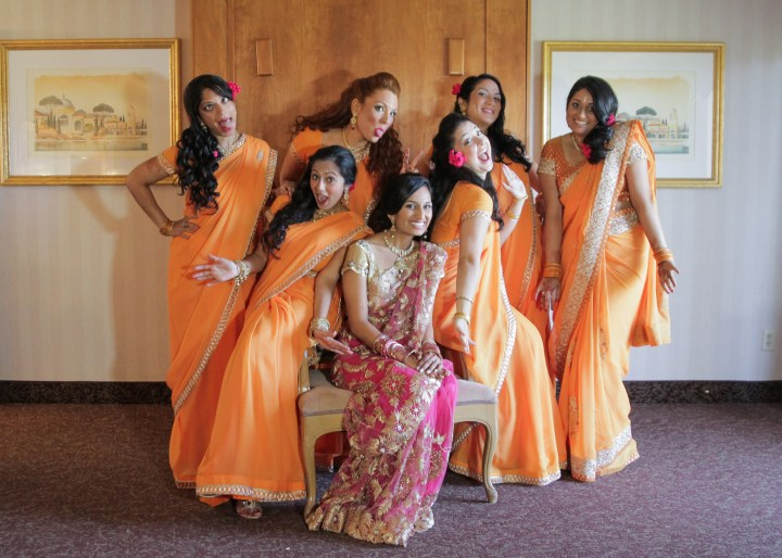 Ashmi-Suraj-Indian-wedding-mandap-varmala-San-Diego-bride-bridesmaids-saris