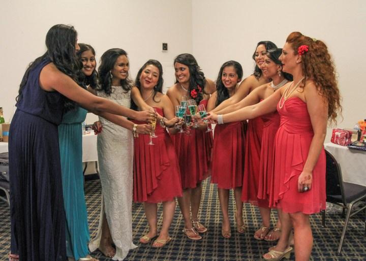 Ashmi-Suraj-Indian-wedding-mandap-varmala-San-Diego-bridesmaids