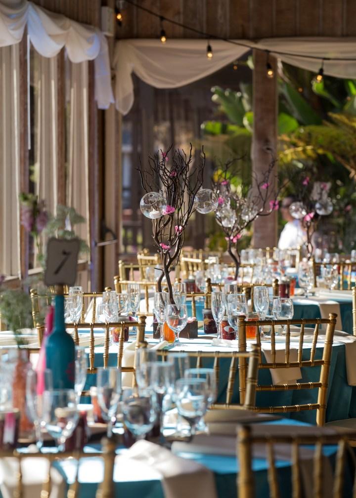 Ashmi-Suraj-Indian-wedding-mandap-varmala-San-Diego-venue-table-chiavarri