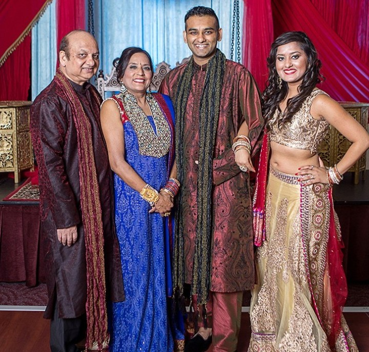 Priyanka, her brother - the groom and their parents.