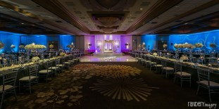 An Indian wedding reception at the Hilton Costa Mesa Orange County