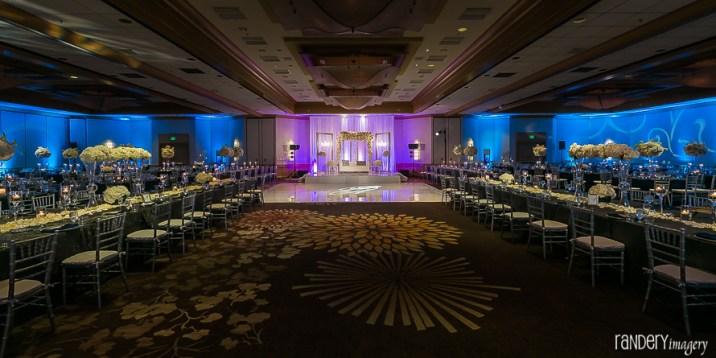 An Indian wedding reception at the Hilton Costa Mesa Orange County