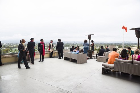 The Marriott's 360 helipad with 360 degree views of LA.