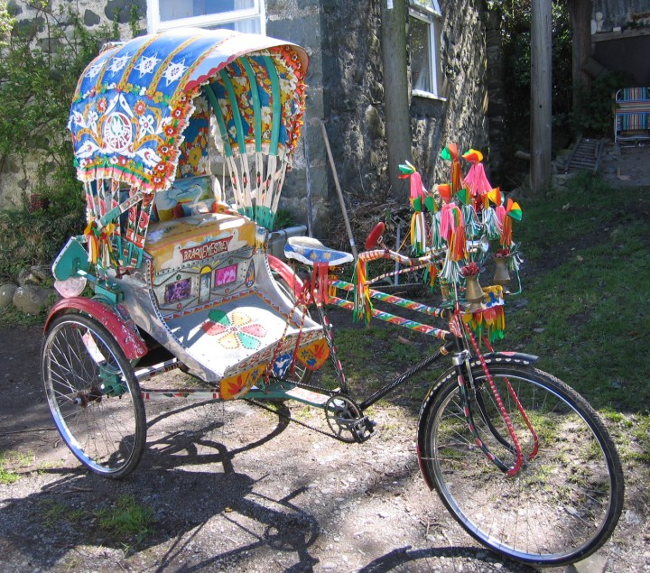 rickshaw for Indian wedding baraat and entrance