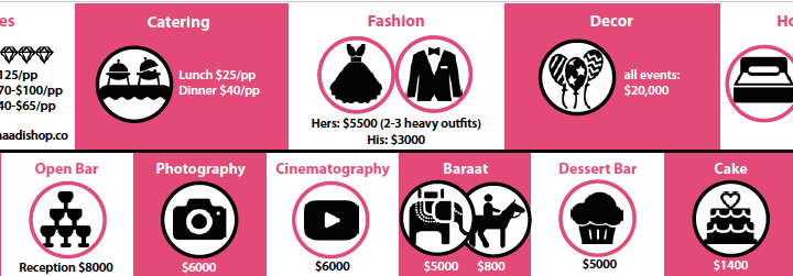 ShaadiShop Indian wedding budget inforgraphic