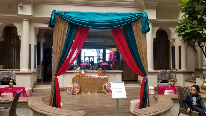Indian wedding at Post ceremony lunch venue withIndian wedding at Embassy Suites SFO Waterfront
