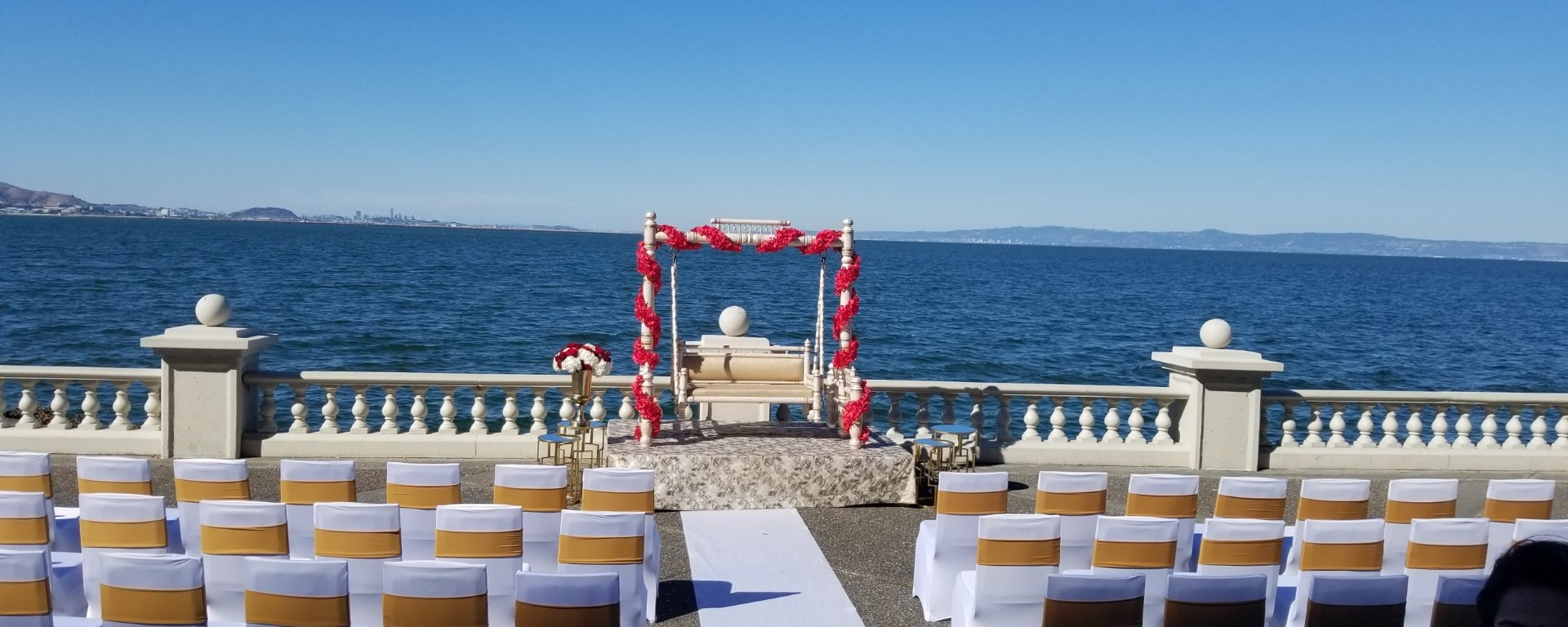 Indian wedding mandap Embassy Suites SFO Waterfront