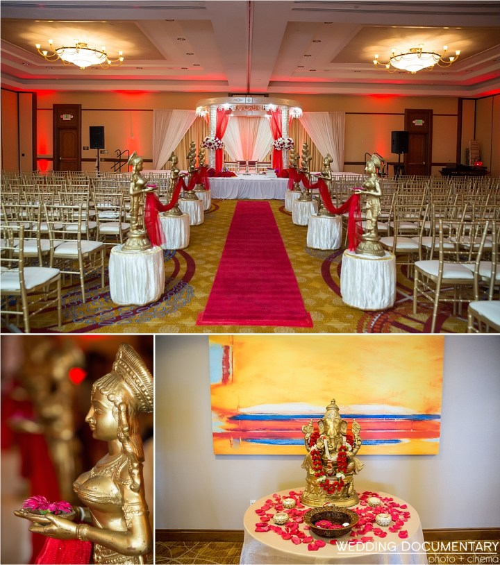Indoor Indian wedding at Fremont Marriott