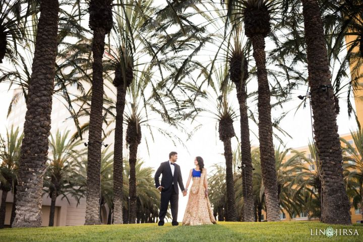 The couple's pre-reception photo shoot at the Delta Marriott Anaheim Garden Grove.