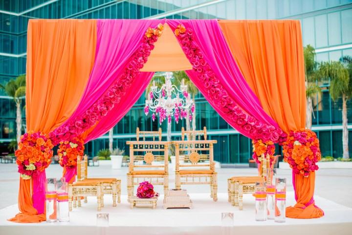 Mandap for an Indian wedding.