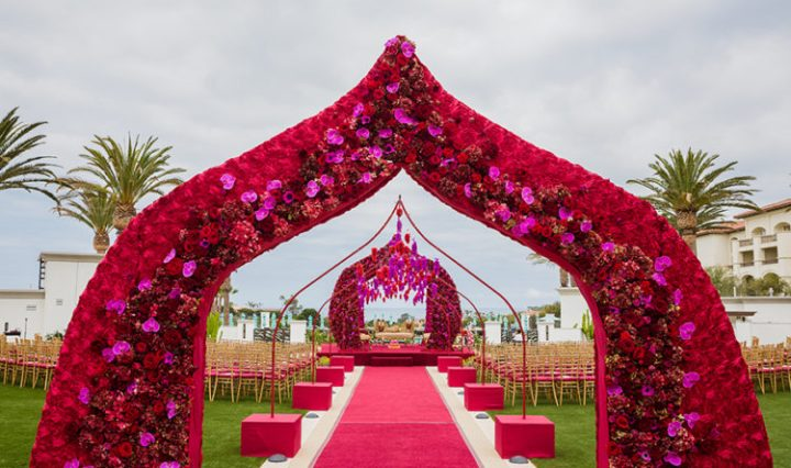Indian wedding mandap at Monarch Beach Resort
