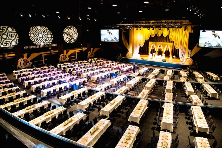 A wedding reception at the City National Grove of Anaheim.