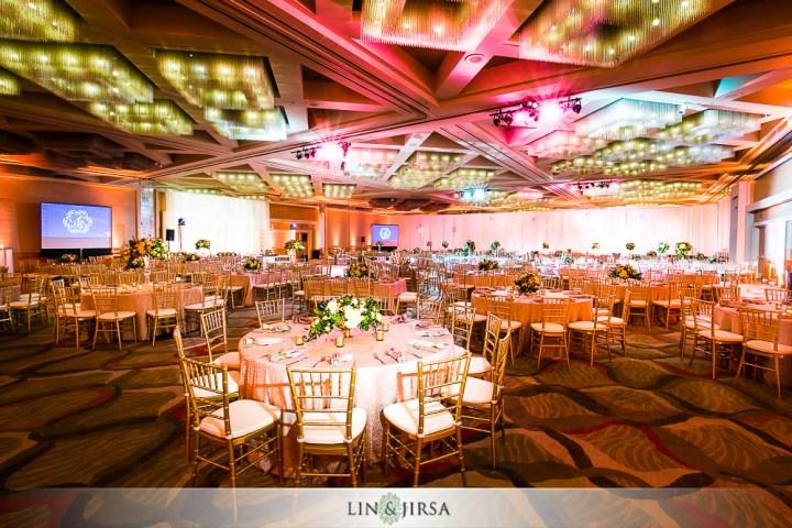 Indian wedding reception at Hotel Irvine.