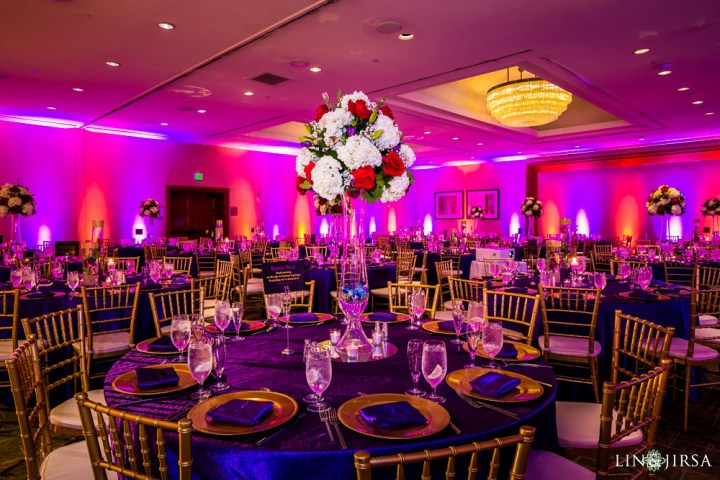 An Indian wedding reception at the Westin South Coast Plaza.
