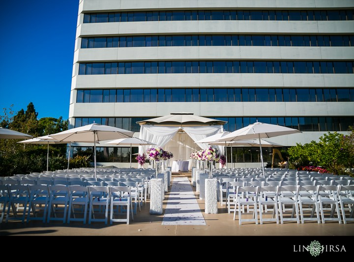 A wedding in the Terrace Gazebo venue at the Westin South Coast Plaza.