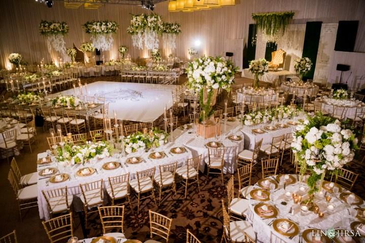 Indian wedding reception at Terranea Resort