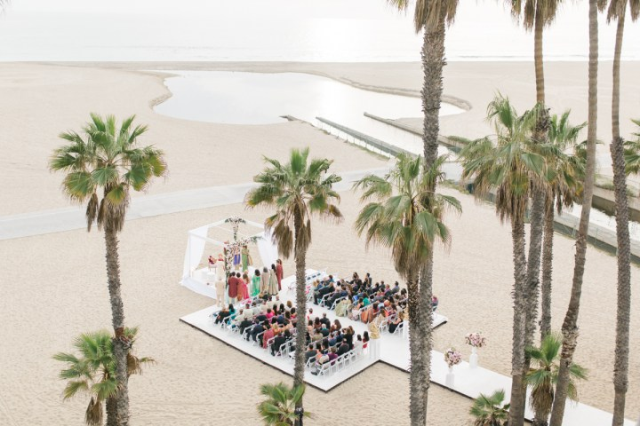 Beach Indian wedding at Casa del Mar Santa Monica