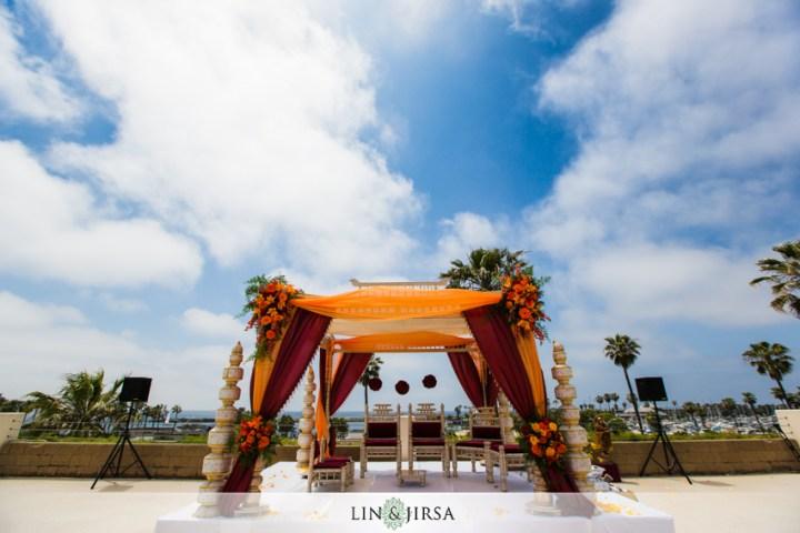 Indian wedding mandap at the Crowne Plaza Redondo Beach