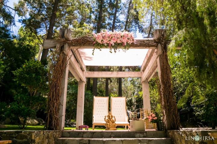 Indian wedding mandap at Calamigos Ranch