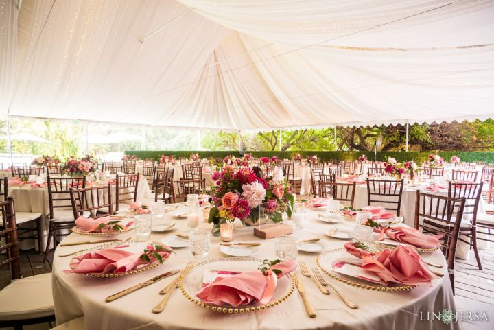 Indian wedding reception at Calamigos Ranch