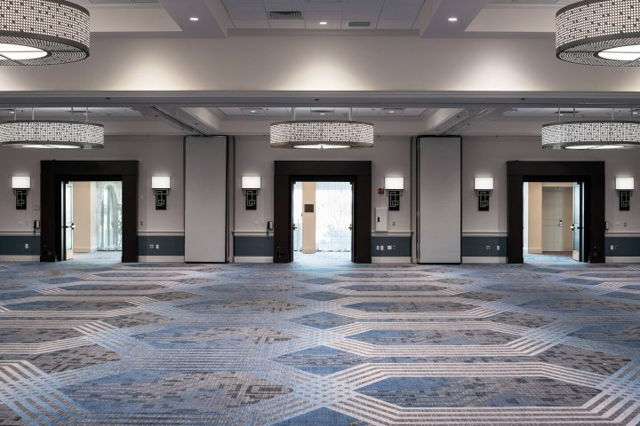 Ballroom foyer at Santa Clara Marriott
