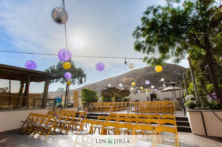 Terrace wedding ceremony at Seven Degrees