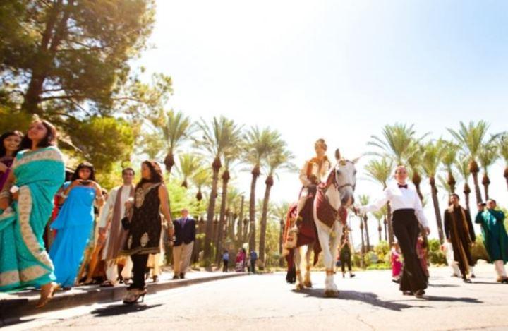 Indian wedding baraat Hyatt Regency Scottsdale Resort & Spa
