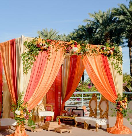 Indian wedding ceremony Hyatt Regency Scottsdale Resort & Spa