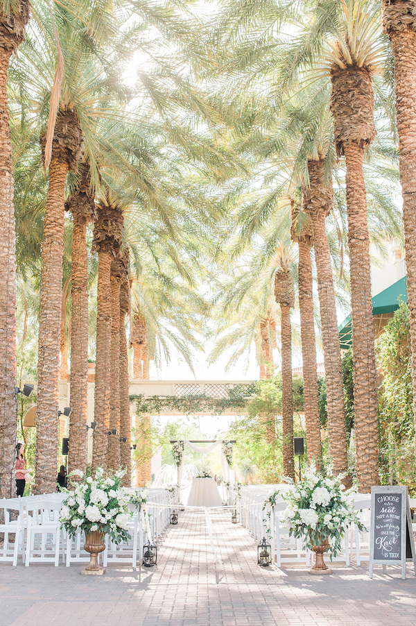 The Paseo Garden wedding ceremony venue at Arizona Grand Resort & Spa