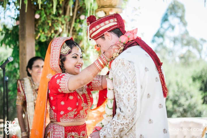 Indian wedding varmala at Chaminade Resort & Spa