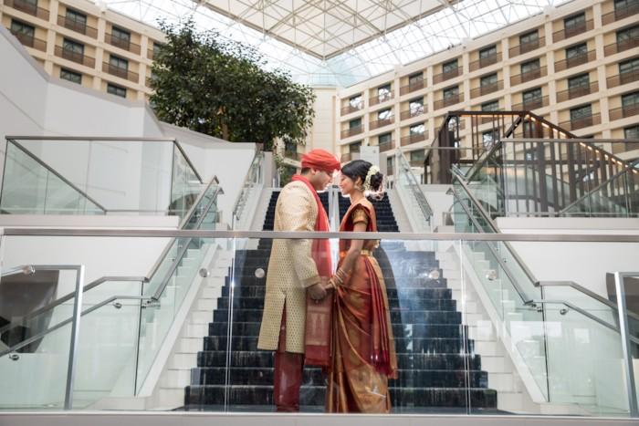 Indian couple romantic photo