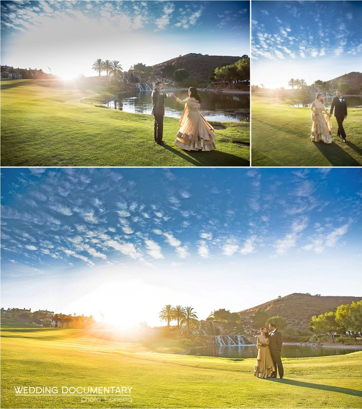 Indian wedding romantic photo session at Silver Creek Valley Country Club