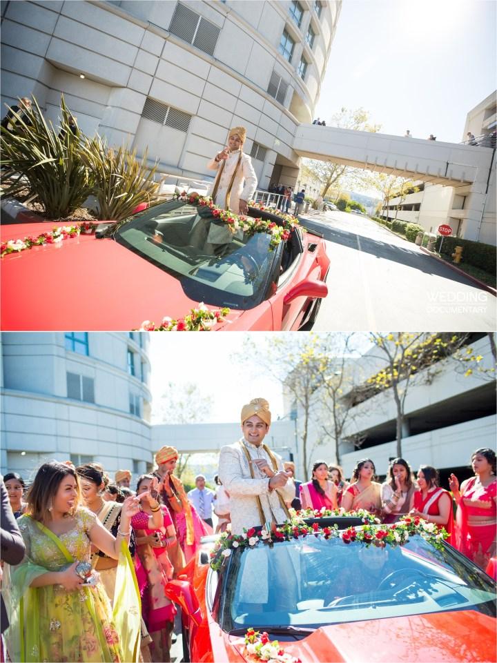 Indian wedding baraat Hyatt Regency San Francisco Airport