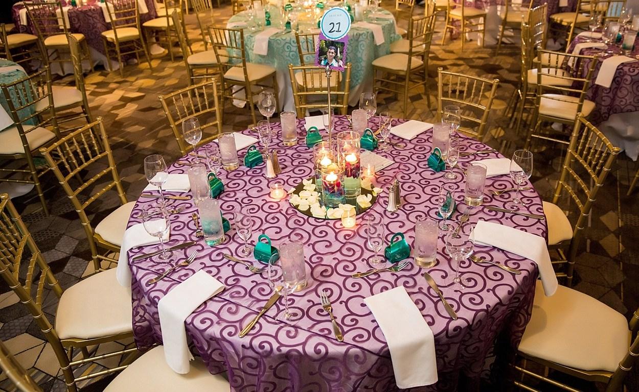 Indian wedding reception ballroom