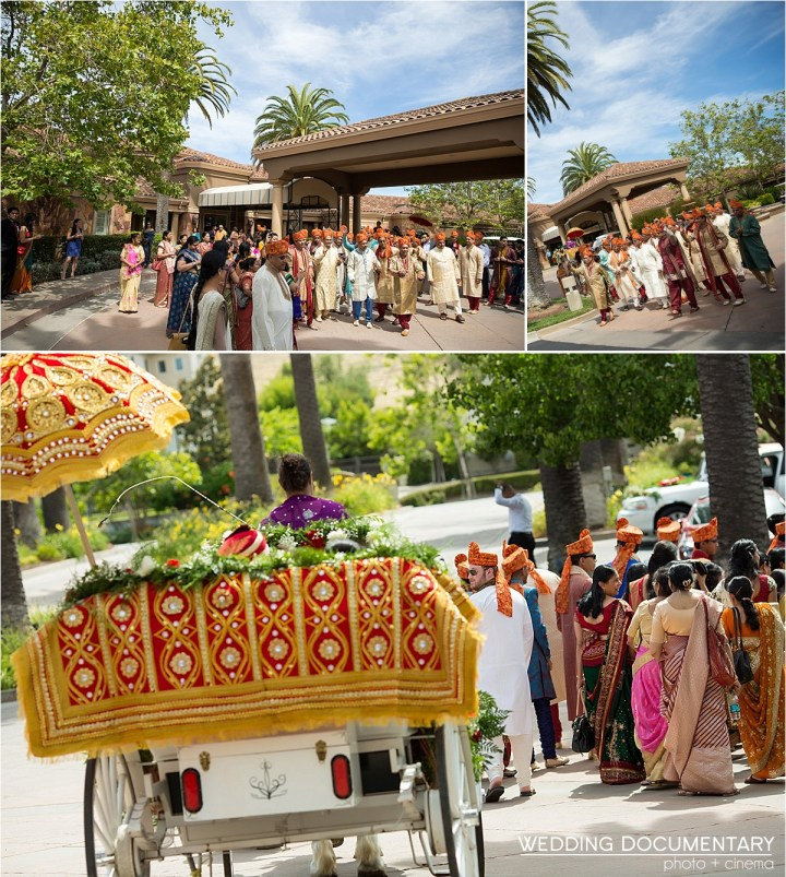Romantic photGrrom's arrival at an Indian wedding Silver Creek Valley Country Club