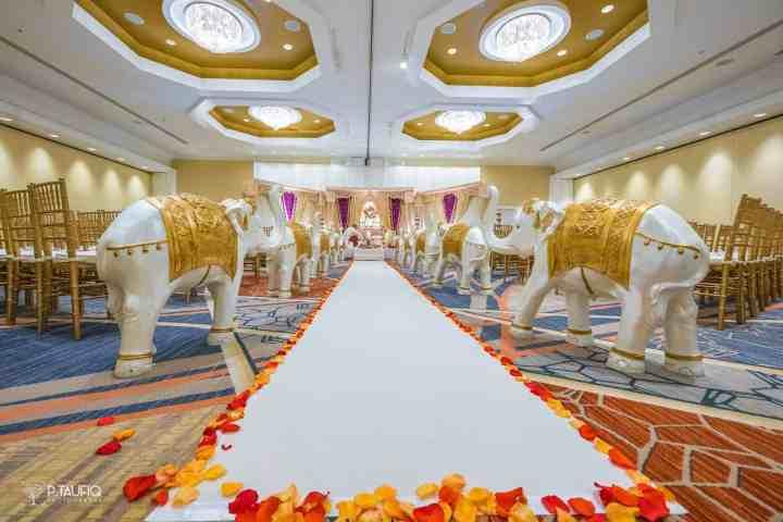 Indian wedding ceremony indoors in Boston