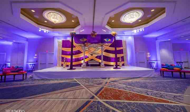 Indian wedding in the Celebrate Ballroom at the Burlington Marriott Boston