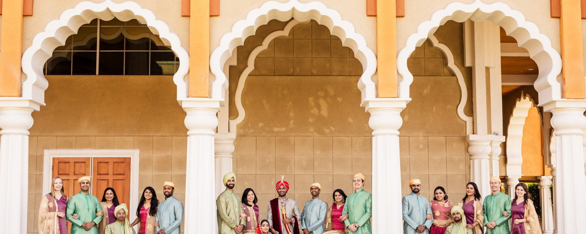 San Jose Gurdwara wedding party