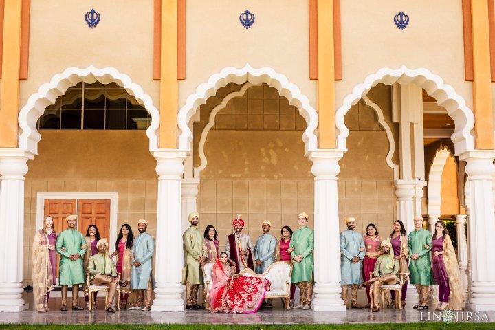 San Jose Gurdwara wedding party